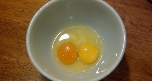 Почему в яйце бывает два желтка?