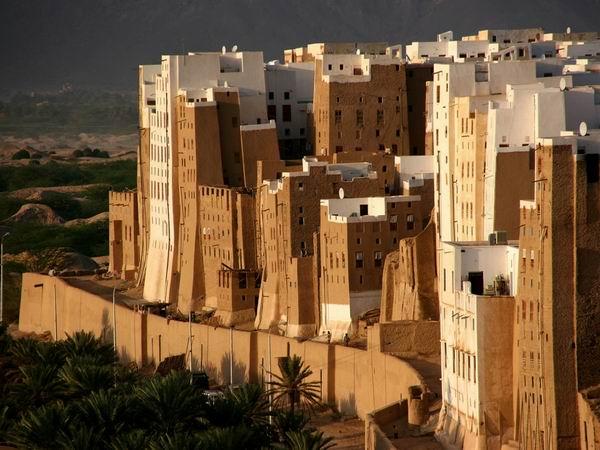 Шибам – город глиняных небоскрёбов